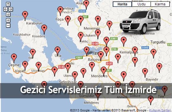 servis bölgelerimiz